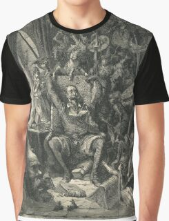 Don Quixote in his study by Gustave Dore Graphic T-Shirt