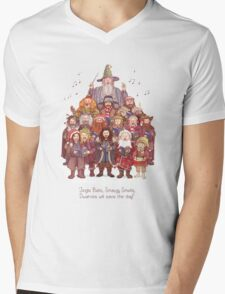 The loudest carollers in Middle Earth Mens V-Neck T-Shirt