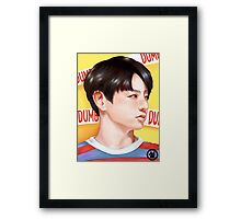 Jungkook Dumb Dumb Inspired Portrait Framed Print