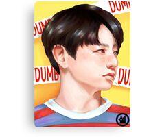 Jungkook Dumb Dumb Inspired Portrait Canvas Print