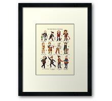 The Twelve Doctors of Christmas Framed Print