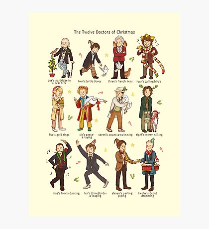 The Twelve Doctors of Christmas Photographic Print