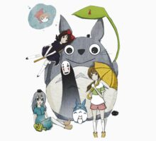 fammili collage ghibli Kids Tee