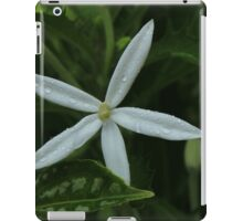White Flower With Water Drops iPad Case/Skin