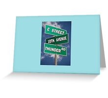 Springsteen Roadmap Greeting Card