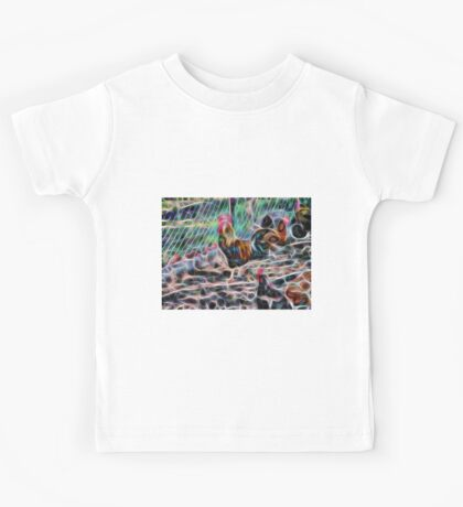 Abstract Proud Rooster Kids Tee