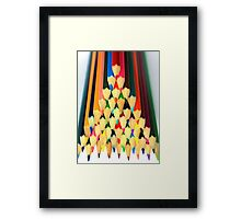 Colored Pencil Pyramid Framed Print