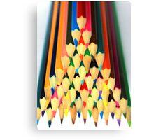 Colored Pencil Pyramid Canvas Print