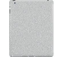 Napoleon Dynamite Script iPad Case/Skin