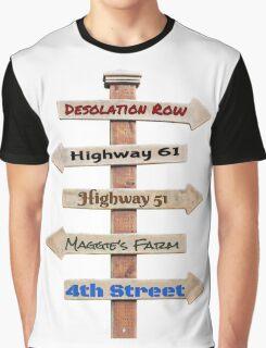 Bob Dylan Roadmap Graphic T-Shirt