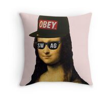 Old School Swagger Throw Pillow