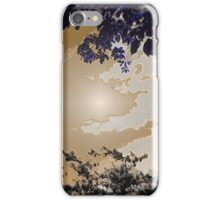 Brown Sky Through The Leaves iPhone Case/Skin