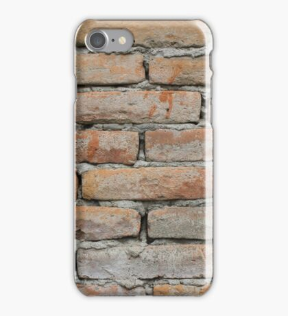 Wall of Red Bricks iPhone Case/Skin