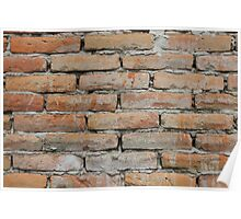 Wall of Red Bricks Poster