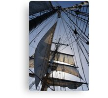 Lines, sheets, spars Canvas Print