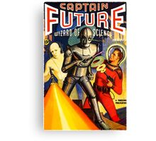Retro Vintage CAPTAIN FUTURE NO. 1 PULP MAGAZINE ART Canvas Print