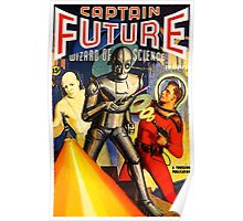 Retro Vintage CAPTAIN FUTURE NO. 1 PULP MAGAZINE ART Poster