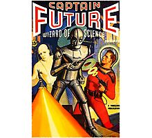 Retro Vintage CAPTAIN FUTURE NO. 1 PULP MAGAZINE ART Photographic Print