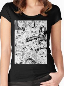 Ahegao Pervert (manga) Women's Fitted Scoop T-Shirt