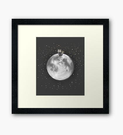 Lost in a Space / Moonelsh Framed Print