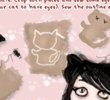 HERE'S HOW: HOW TO MAKE A CAT Sticker