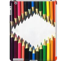 Diamond Shaped Colored Pencils iPad Case/Skin
