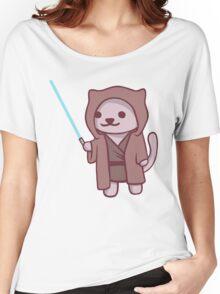 Neko atsume - Jedi cat Women's Relaxed Fit T-Shirt
