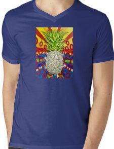 Disco Pineapple  Mens V-Neck T-Shirt