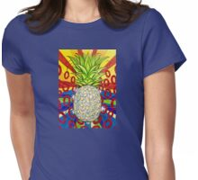 Disco Pineapple  Womens Fitted T-Shirt
