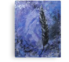 The Black Feather Canvas Print
