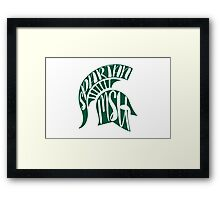 Michigan State Spartans Framed Print