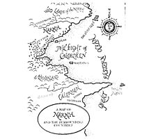 A MAP TO NARNIA Photographic Print