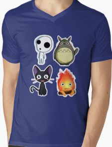 fushion ghibli Mens V-Neck T-Shirt