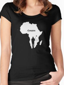 COMPTON/AFRICA Women's Fitted Scoop T-Shirt