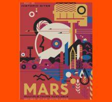 Mars Travel Poster - NASA JPL Kids Tee