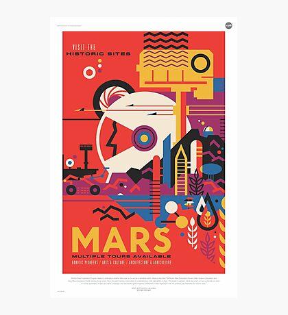 Mars Travel Poster - NASA JPL Photographic Print