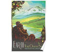 Earth Space Travel Poster Poster