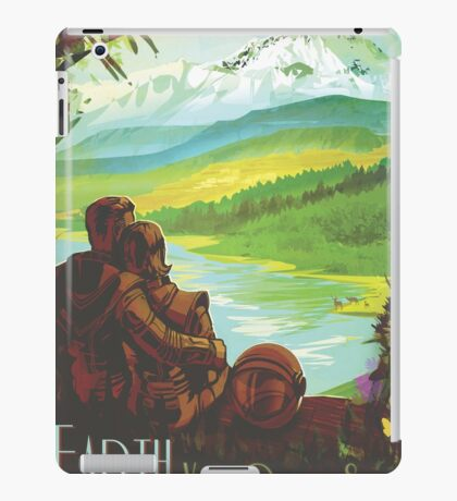 Earth Space Travel Poster iPad Case/Skin