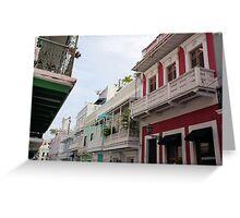 Old San Juan's Colorful Casas Greeting Card