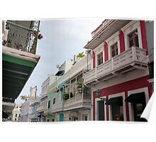 Old San Juan's Colorful Casas Poster