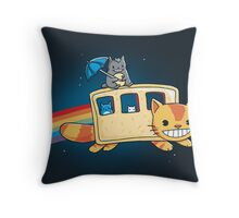 totoro 8bit Throw Pillow