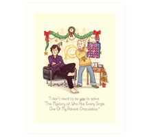 The Mystery of the Advent Chocolates Art Print