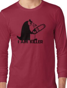Killer Penguin Funny Man Tshirt Long Sleeve T-Shirt