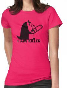 Killer Penguin Funny Man Tshirt Womens Fitted T-Shirt