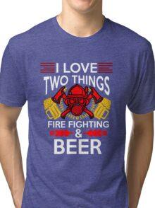 Firefighter Beer Tri-blend T-Shirt