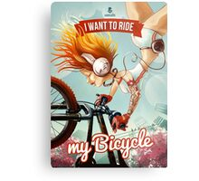 I want to ride my bicycle Metal Print