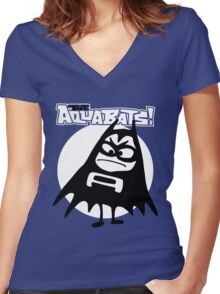 THE AQUABATS Women's Fitted V-Neck T-Shirt