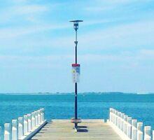 Pier at Geelong Sticker