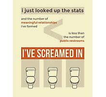 tweets by @dril - Restroom Photographic Print
