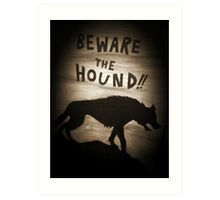 Sherlock Beware the Hound Art Print